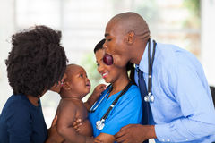 African doctor baby Royalty Free Stock Image