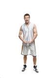 Funny agressive sportsman Stock Image
