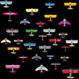 Funny aircraft. A bright colored funny aircraft Stock Image