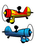The funny aircrafts. The picture of two color funny aircrafts royalty free illustration