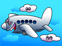 Funny airplane Stock Image