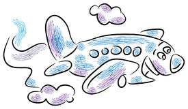Funny airplane Stock Photo