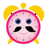 Funny alarm clock Royalty Free Stock Image