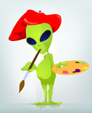 Funny Alien. Cartoon Character Funny Alien. Vector Illustration Stock Images