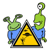Funny alien attack Royalty Free Stock Photos