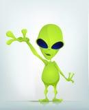Funny Alien Cartoon Illustration Stock Images