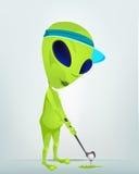 Funny Alien Cartoon Illustration Royalty Free Stock Photo