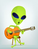 Funny Alien Cartoon Illustration Stock Images