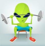 Funny Alien Cartoon Illustration Royalty Free Stock Image