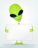 Funny Alien Cartoon Illustration Stock Photo