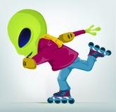 Funny Alien Cartoon Illustration Stock Photography