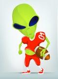 Funny Alien Cartoon Illustration Royalty Free Stock Photos
