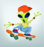 Funny Alien Cartoon Illustration Royalty Free Stock Photography