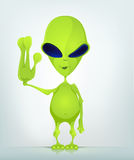 Funny Alien Cartoon Illustration Royalty Free Stock Images