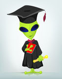Funny Alien Cartoon Illustration Stock Photos
