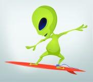 Funny Alien Cartoon Illustration Royalty Free Stock Images