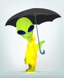 Funny Alien Cartoon Illustration Stock Image
