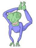 Funny alien Stock Image