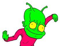 Funny alien Royalty Free Stock Photos