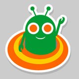 Funny alien icon Stock Image