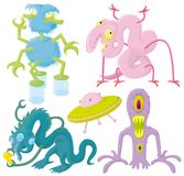 Funny aliens Royalty Free Stock Images