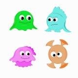 Funny aliens stock illustration