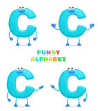 Funny alphabet. Isolated a fun cartoon character C on a white background Stock Photography
