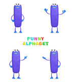 Funny alphabet. Isolated a fun cartoon character I on a white background Stock Image