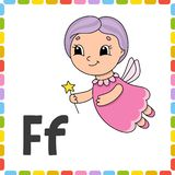 Funny alphabet. ABC flash cards. Cartoon cute character isolated on white background. For kids education. Learning letters. Vector. Illustration vector illustration