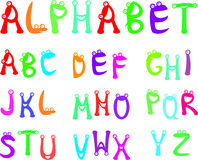 Funny alphabet for kids. Whie background Royalty Free Stock Photography