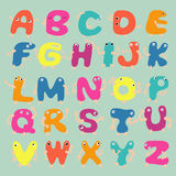 Funny alphabet letters Royalty Free Stock Images