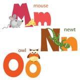 Funny alphabet 5 Stock Image