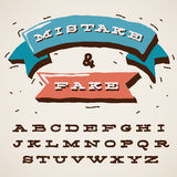 Funny alphabet letters in retro style. Vector Eps10 image Royalty Free Stock Image