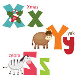 Funny alphabet Stock Images