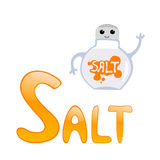 Funny alphabet Salt Stock Photos