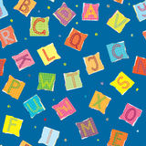 Funny alphabet seamless pattern Royalty Free Stock Image