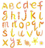 Funny alphabet set Stock Images