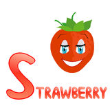 Funny alphabet Strawberry Royalty Free Stock Image