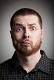 Funny amazed guy Royalty Free Stock Images