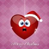 Funny amazed heart for Christmas Stock Photo