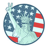 Funny american emblem Stock Photography