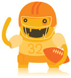 Funny American Footballer Monster Royalty Free Stock Photography