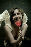 Funny angel stock photo