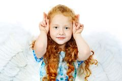 Funny angel stock photography