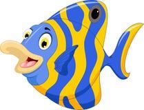 Funny angel fish cartoon Stock Photography