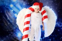 Funny angelic boy Stock Photo
