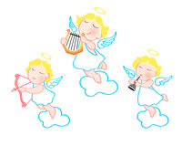 Funny angels Royalty Free Stock Image