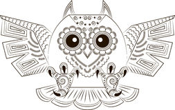 Funny angry owl Royalty Free Stock Images