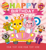 Funny animal birthday card Stock Photography