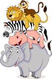 Funny animal cartoon Royalty Free Stock Photo